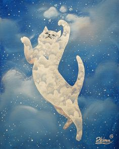 """""""Cat plays with clouds"""""""
