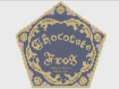 Chocolate Frog Card Cross Stitch Pattern! https://www.etsy.com/listing/207460492/chocolate-frog-box-cross-stitch-pattern