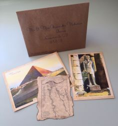 Ancient Egyptian Wedding Invitation Bundle We Used Actual Antique Postcards And Had Royal Steamline