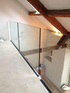 Side fixed frameless glass balustrade