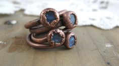 Copper Electroformed Ring // Raw Crystal // Metaphysical // Crystal Ring // Raw Copper // Earthy // Organic by TreeLoversCo on Etsy