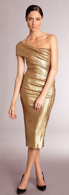 Donna Karan ~ Vintage style- a good mother of the bride dress, I think