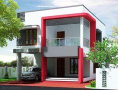 Incredible Modern House Elevation Gharexpert Modern House Elevation Designs - Inspiring Home Design Ideas 2 Storey House Design, House Front Design, Small House Design, Modern House Colors, Modern Home Design, Indian House Exterior Design, Kerala House Design, Modern Exterior, Exterior House Colors Combinations