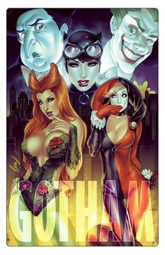 Gotham - The Penguin, The Joker, Catwoman, Poison Ivy, and Harley Quinn by Elias Chatzoudis