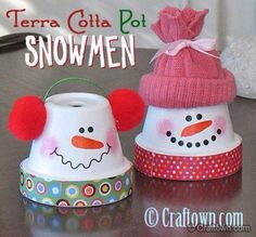 Pot head snowmen
