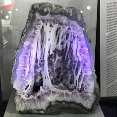 Quartz inside Amethyst Geode from St Marie aux Mines, France.