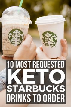 10 keto Starbucks coffee ideas that are quick, easy, and great to order and stay keto! These healthy, gluten free, and easy low carb Keto Starbucks orders that include Keto Pink Drink, Keto Passion Tango Iced Tea, Keto Chai Tea Latte, build your own and lots of other fun ideas. | Olivia Wyles Low Carb Starbucks Drinks, Starbucks Tea, How To Order Starbucks, Iced Coffee Drinks, Low Carb Drinks, Iced Tea, Keto Fast Food, Keto Snacks, Keto Mcdonalds