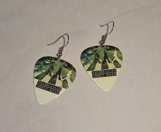 Beatles Abbey Road Guitar Pick Earrings Handmade