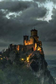 Castle  by moon  light ...