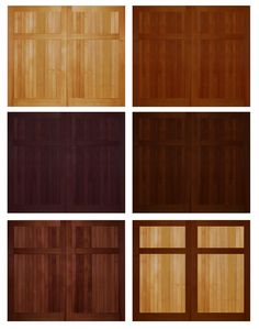 Shop for wooden overhead garage doors with immediate delivery. Overhead Garage Door, Wood Garage Doors, Painted Doors, Exterior Doors, Home Decor, Wooden Garage Doors, Painted Front Doors, Outdoor Gates, Exterior Front Doors
