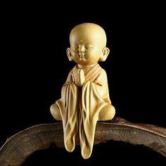 Details about CM Stunning Boxwood Carving: Little Monk Za-zen Baby Buddha, Little Buddha, Buddha Zen, Small Buddha Statue, Buddha Statues, Image Zen, Buddhist Art, Buddhist Monk, Wood Sculpture