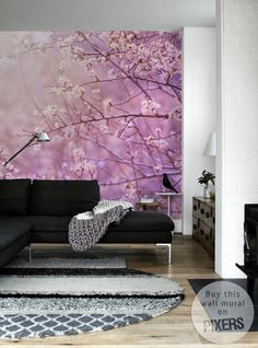 Wall Mural Cherry Tree - inspiration wall mural, interiors gallery• PIXERSIZE.com