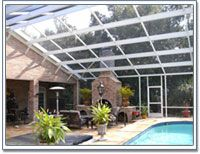 sloped style Pool screen roof   Screen Rooms, Pool Enclosures, Garages, Carports and Patio Covers