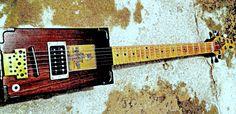 Photo Art Apple Cigar Box Guitar