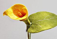 Calla Filzblüte gelb Blume Blüten aus Filz Filzblüte für von mafiz, €20.00