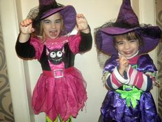 Rebeka and Dorka in their witches costumes!