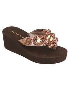 Roper Fancy Beaded Thong Sandals Flip Flop Sandals, Flip Flops, Shoe Boots, Shoes, Footwear, Wedges, Fancy, Rodeo, My Style