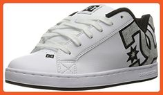 DC Women's Court Graffik SE Skateboarding Shoe, White/Charcoal, 9 B US - Athletic shoes for women (*Amazon Partner-Link)
