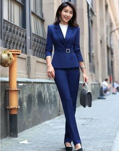 ca0c952e160b1 Details about Summer Womens Striped Pants Suit Office Work Formal Wear Set  Short Sleeve Blazer