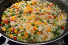 reteta orez cu legume pas cu pas Vegetarian Recipes, Cooking Recipes, Healthy Recipes, Healthy Food, Broccoli, Vegetables, Salads, Vegetarische Rezepte, Chef Recipes