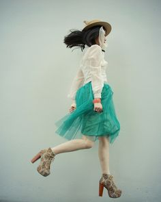turquoise skirt. But not the freaky shoes or the puritan blouse. Also, I'm five.