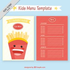 Sample Kids Menu Template Menu Template For Kids. Menu Sample Sample Menu  Kids After Hours .