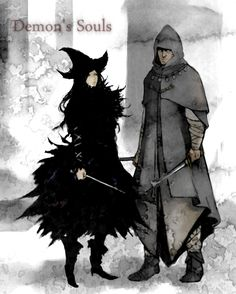 Demon's Souls had the best magic user outfits. Fluffy witch a best! Dark Souls 2, Demon's Souls, Soul Game, Anime Soul, Blue Eyed Men, Medieval, Fantasy Character Design, Character Ideas, Fantasy Warrior