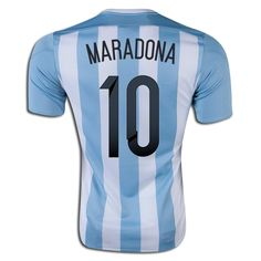 Diego Maradona 10 2015 Copa America Argentina Home Soccer Jersey