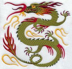 Oriental Dragon Embroidery Designs   dragons design pack xl a chinese dragons design pack xxl