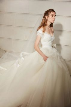 Elie Saab Wedding Dress Half Shoulder
