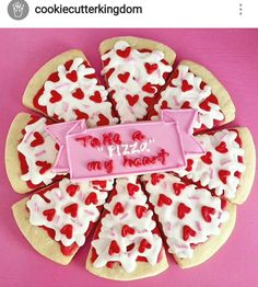52 Ideas for diy food recipes desserts buttercream frosting Fancy Cookies, Iced Cookies, Cute Cookies, Royal Icing Cookies, Cupcake Cookies, Cupcakes, Sugar Cookies, Valentine Pizza, Valentines Day Cookies