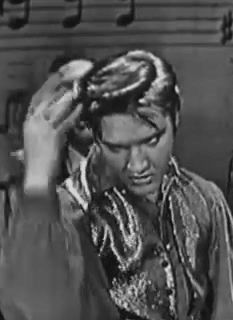 Click on GIF to make Elvis move! Elvis moves right hand dancing