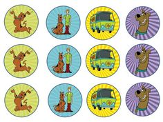 Scooby Doo Cupcake Toppers by Laceylettering on Etsy