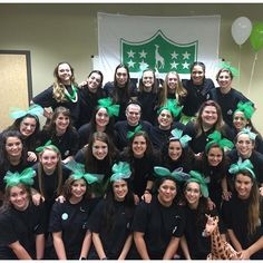 The Texas A&M colony showed off their green and white pride on their bid day