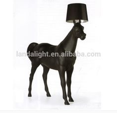 Check out this product on Alibaba.com App:modern new products for 2015 animal floor lights standing black horse floor lamp with fabric lampshade https://m.alibaba.com/yaqQr2