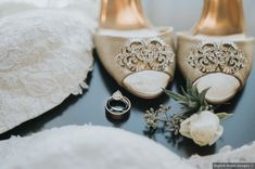 Open-toe heels for bride - classic shoes for wedding {Digital Wave Images}