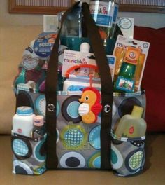 Amazing shower gift!! Zip top utility tote.