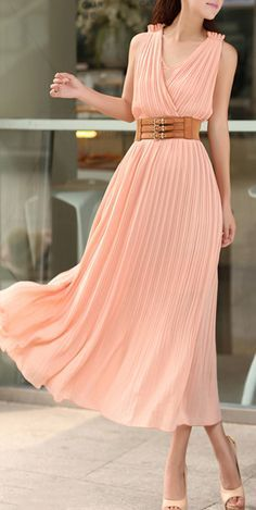 Coral maxi with belt