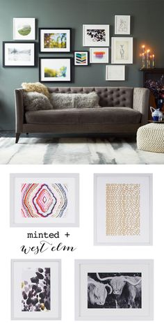 Minted + west elm gallery wall