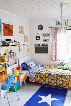 A rainbow bedroom for an eight-year-old in Norway