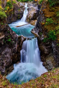 The soothing sights of Little Qualicum Falls on Vancouver Island.