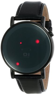 Odin's Rage OR213R1 Watch Leather Strap Red LEDs13R1 Men's Black Leather Strap Watch