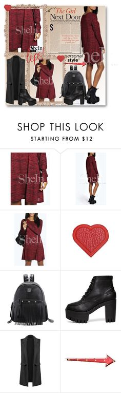 """8. SheIn Red Dress"" by lillili25 ❤ liked on Polyvore featuring Anya Hindmarch, Sheinside, polyvoreeditorial and shein"