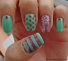 Pretty Pastels Nail nails design nails featured... i would do them ...