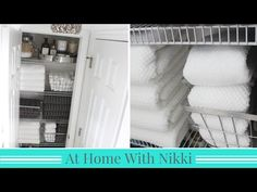 So these tips are going to cover two major closets at your place that are outside the bedroom - the coat closet organization and the linen closet organization. Linen Closet Organization, Home Organisation, Bathroom Organization, Organization Hacks, Organizing, At Home With Nikki, Gain Fireworks, Linen Cupboard, Declutter