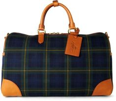 Ralph Lauren Tartan Collection Duffle Bag in Brown for Men  LOVE! SO manly and stylish <3