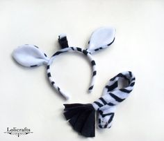 Items similar to Zebra Costume Set, Ears and Tail on Etsy - Famous Last Words