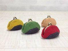 素材1 Bamboo Crafts, Frame Purse, Crochet Flowers, Handicraft, Purses And Bags, Diy And Crafts, Knit Crochet, Coin Purse, Pouch