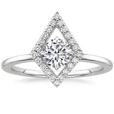 18K White Gold Lucy Diamond Ring (2/3 ct. tw.), top view