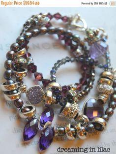 ON SALE amethyst bracelet druzy bracelet purple by soulfuledges